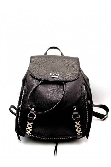 Evve Backpacks - Zainetto rock style Donna Nero Fashion