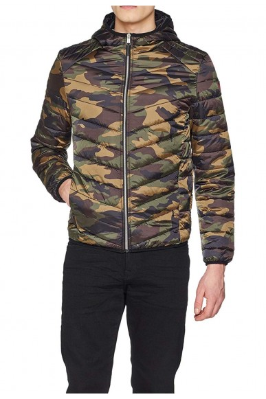 Guess Giacchetti   Hooded superlight puffa jkt Uomo Camouflage Fashion