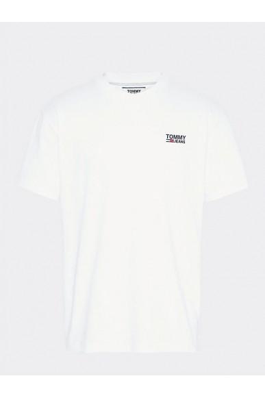 Tommy hilfiger T-shirt   Tjm chest corp logo Uomo Bianco Fashion