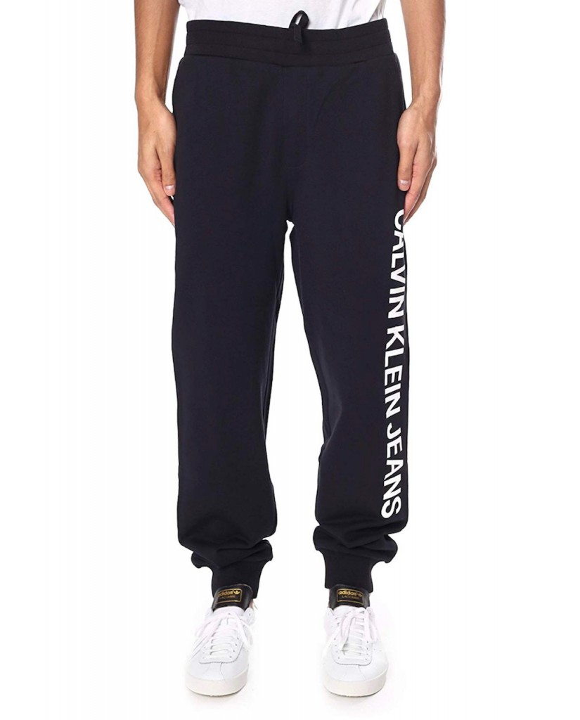 Calvin klein jeans Tute   Institutional side logo jogging Uomo Nero