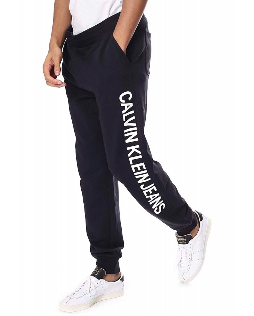 Calvin klein jeans Tute   Institutional side logo jogging Uomo Nero