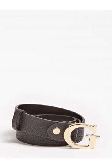 Guess Cinture   Uptown chic adjust pant belt Donna Nero Fashion