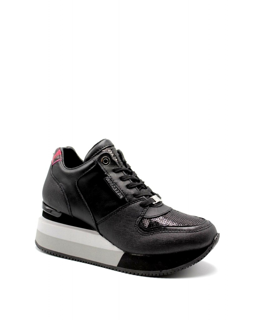 Apepazza Sneakers F.gomma Heidi Donna Nero Fashion