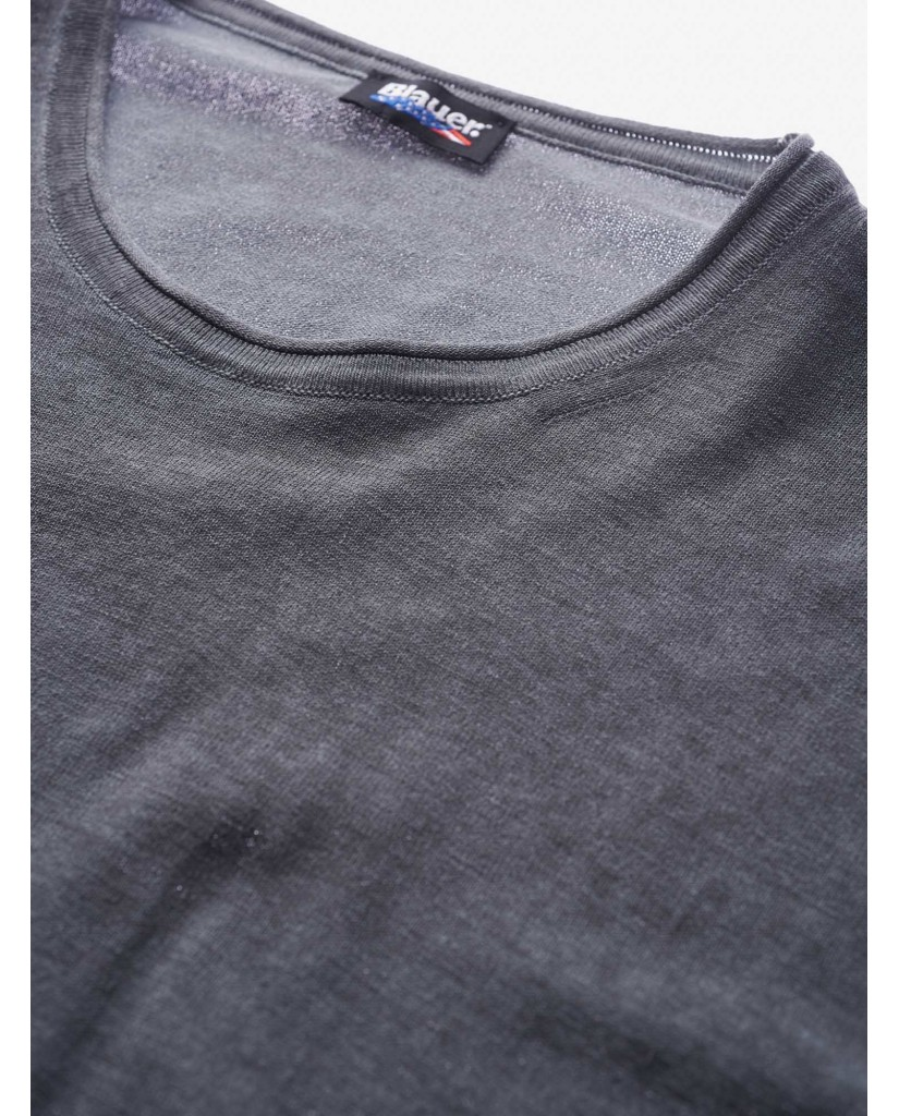 Blauer T-shirt   Maglieria girocollo Uomo Grigio Fashion