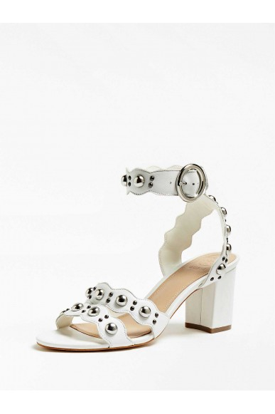 Guess Sandali   Nikey sandalo (sandal) leather Donna Bianco Fashion
