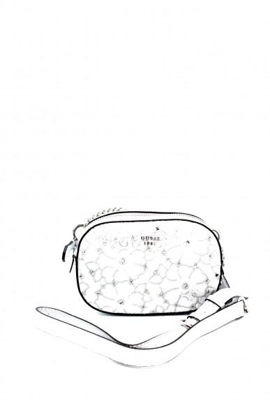 Guess Borse - Jayne mini crossbody top zip Donna Argento Fashion