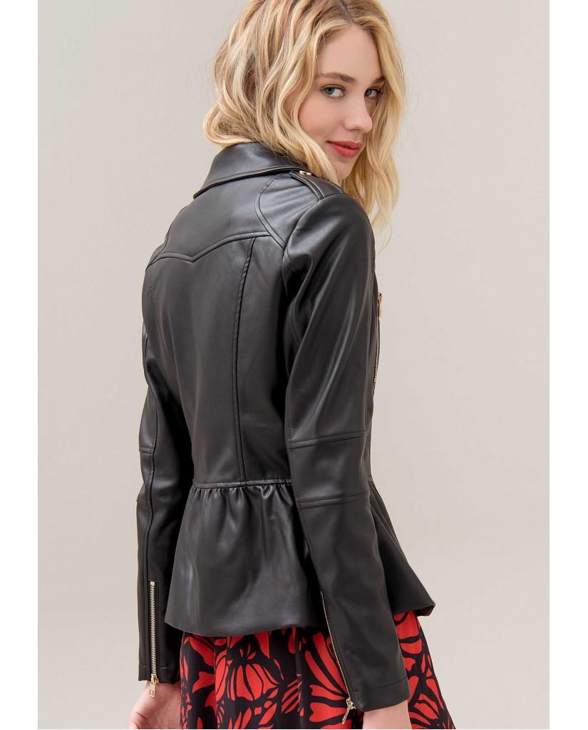 Fracomina Giacchetti   709 biker jacket black Donna Nero Fashion