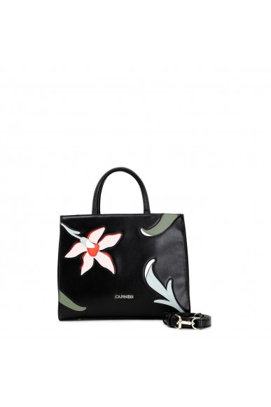 Cafe' noir Borse   Shopping fiore patch Donna Nero Fashion