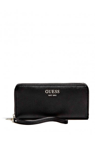 Guess Portafogli   Vikky slg large zip around Donna Nero Fashion