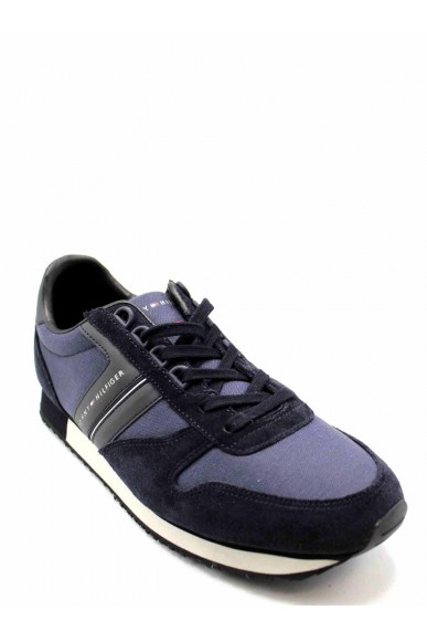 Tommy hilfiger Sneakers F.gomma New iconic material mix runner Uomo Blu Casual