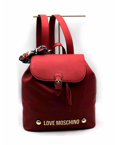 Moschino Backpacks   Zainetto bonded Donna Rosso Fashion