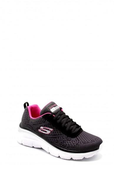 Skechers Sneakers F.gomma 36-41 12719 Donna Nero Casual