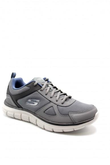 Skechers Sneakers F.gomma 40-46 52631 Uomo Grigio Casual