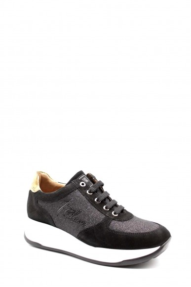1^classe  Sneakers F.gomma Sneakers n0426 Donna Nero Fashion