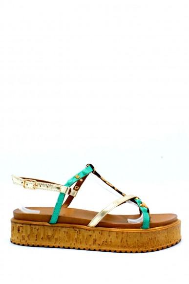 Inuovo Sandali F.gomma 35/41 Donna Oro-verde Fashion