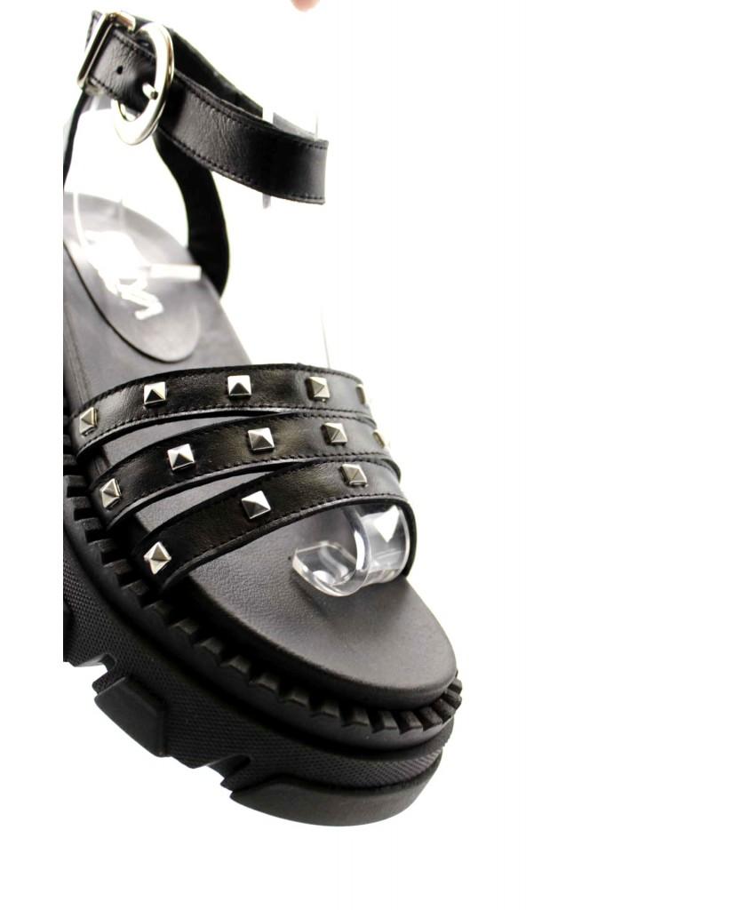 Hilya Sandali F.gomma 36/40 Donna Nero Fashion