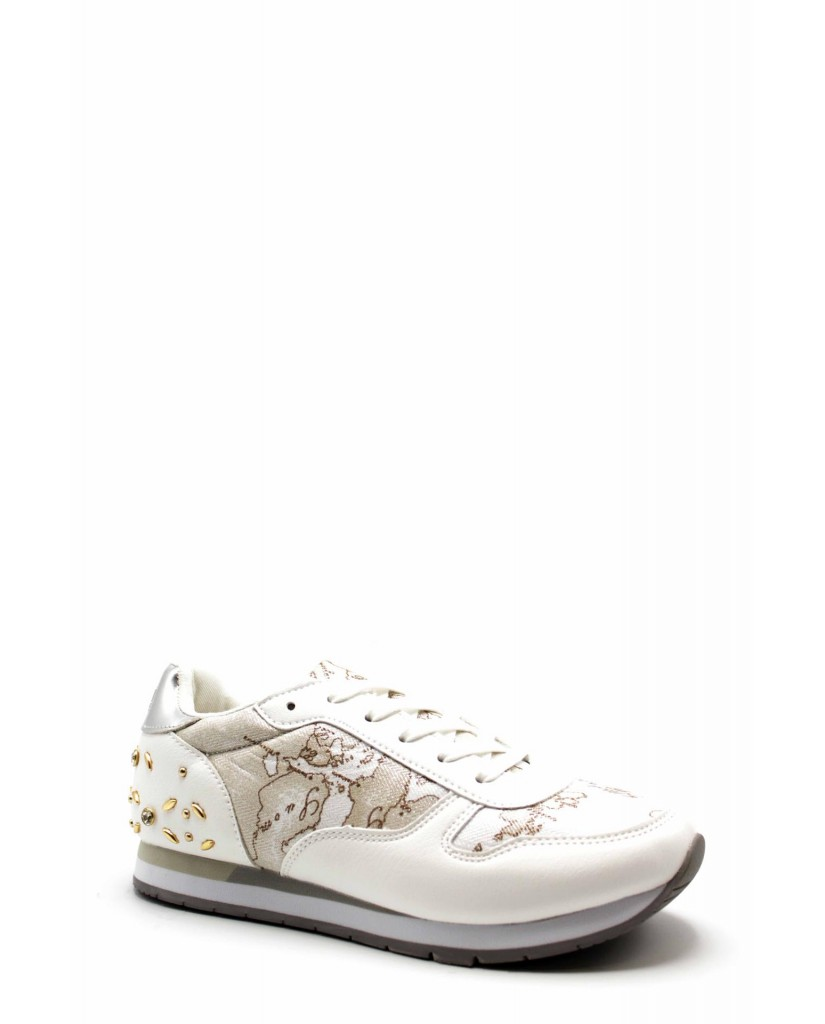 1^classe  Sneakers F.gomma N0212 Donna Bianco Fashion