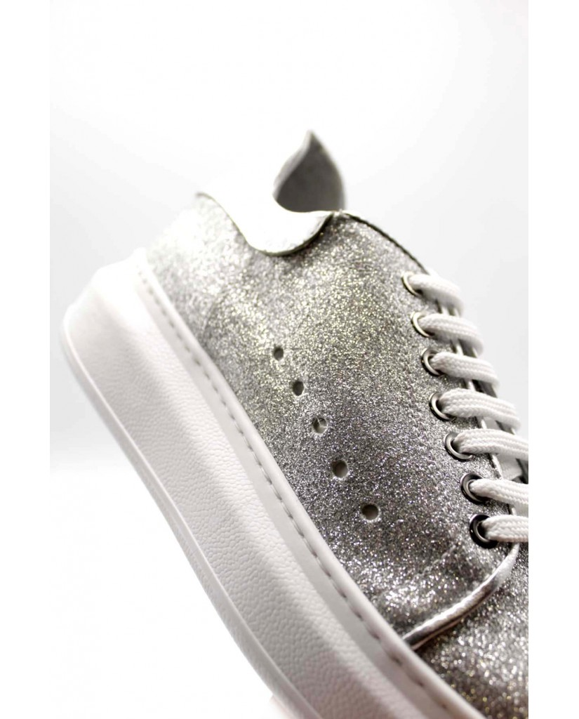 Brando Sneakers F.gomma 35/41 brd 22 Donna Argento Fashion