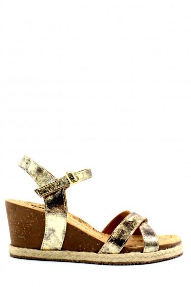 Igieco Sandali F.gomma 35/41 zeppa sughero Donna Oro Fashion