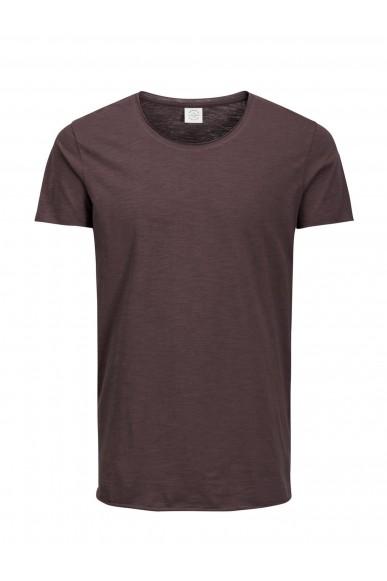 Jackejones T-shirt Uomo Bordeaux Casual