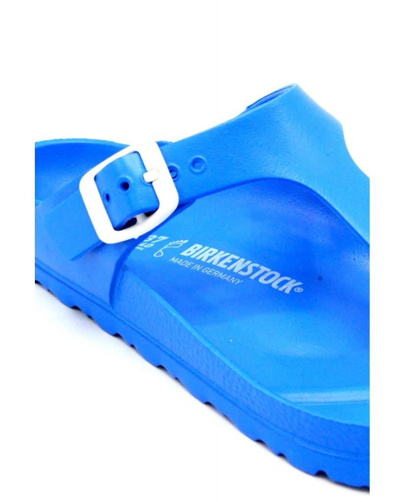 Birkenstock Infradito F.gomma 36/45 Unisex Blu Classico