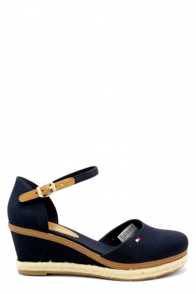 Tommy hilfiger Sandali F.gomma 36/41 iconic elba basic closed toe Donna Blu Fashion