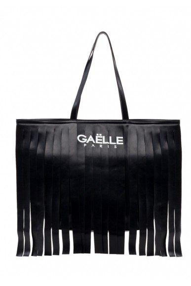 Gaelle paris Borse   Borsa+stampa+frange Donna Nero Fashion