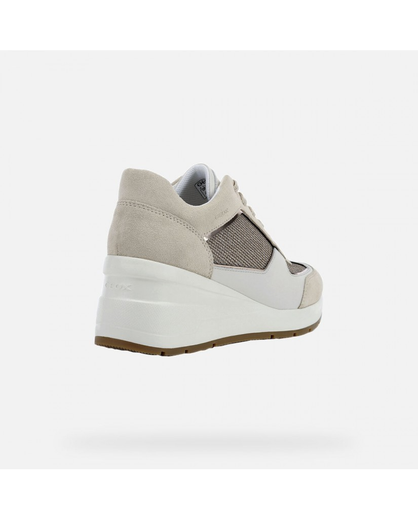 Geox Sneakers F.gomma D zosma a - shi.text+suede Donna Beige Casual