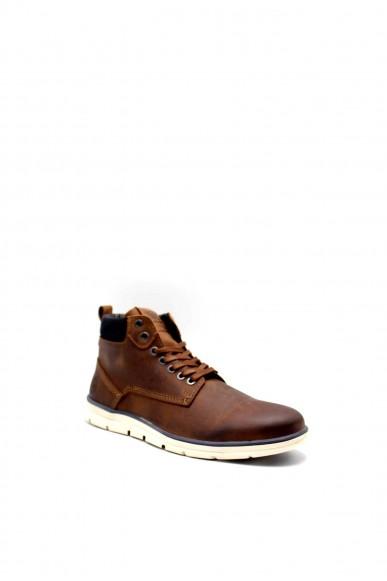 Jackejones Stivaletti F.gomma Jfwtubar leather brandy sts Uomo Marrone Fashion