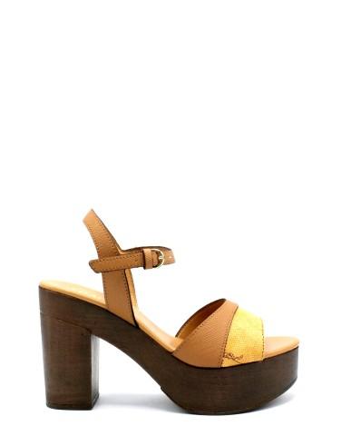 1^classe  Sandali F.gomma 35/41 e683/422a Donna Tabacco Fashion