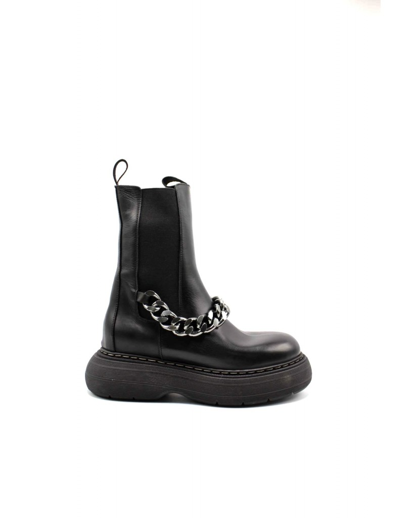 Hilya Beatles F.gomma Af19 made in italy Donna Nero Fashion