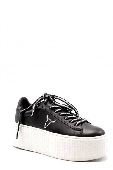 Windsor smith Sneakers F.gomma Seoul brave white white Donna Nero Fashion