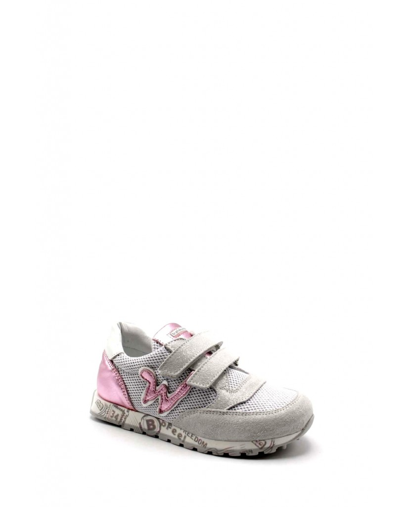 Balducci Sneakers F.gomma Feel 1603 Bambino Bianco-rosa Fashion