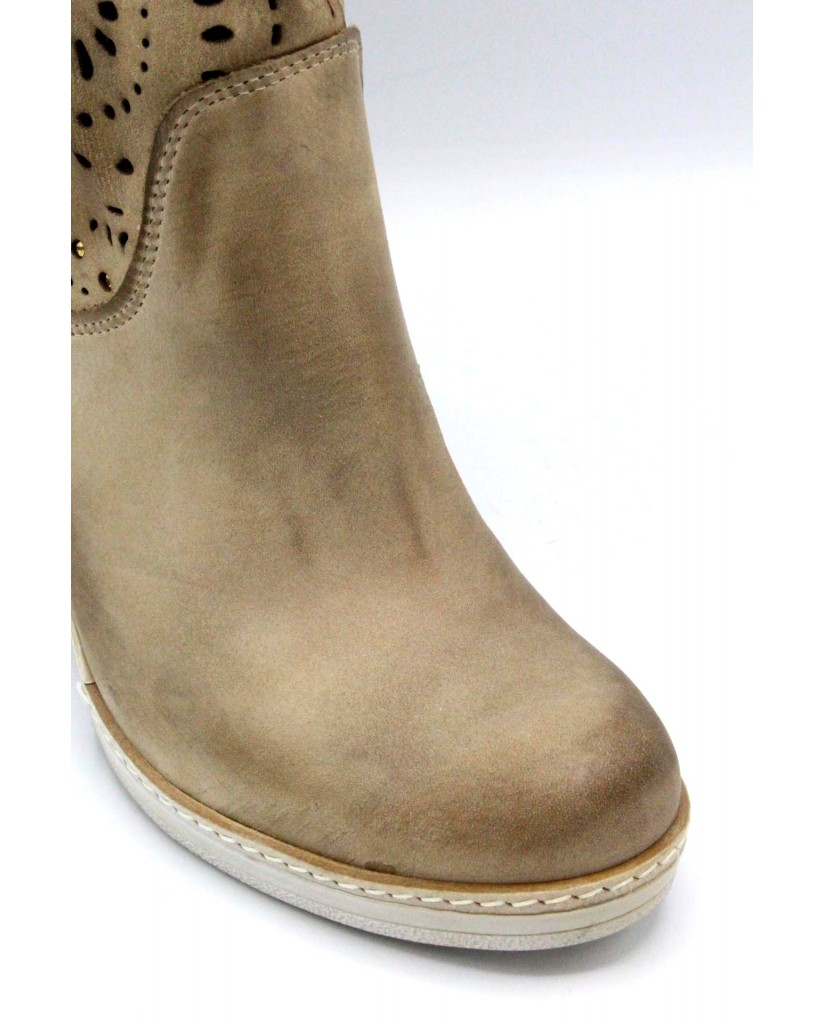 Euroshoes Stivali F.gomma 35-41 made in italy Donna Taupe Casual