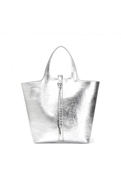 Cafe' noir Borse   Shopping doubleface Donna Argento Fashion