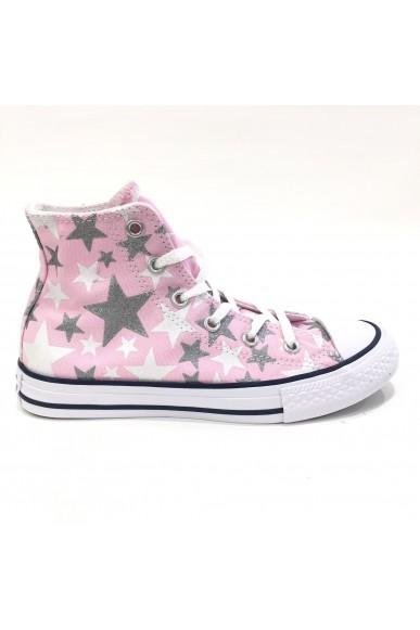 Converse Sneakers F.gomma 27/35 Bambino Rosa-bianco Sportivo