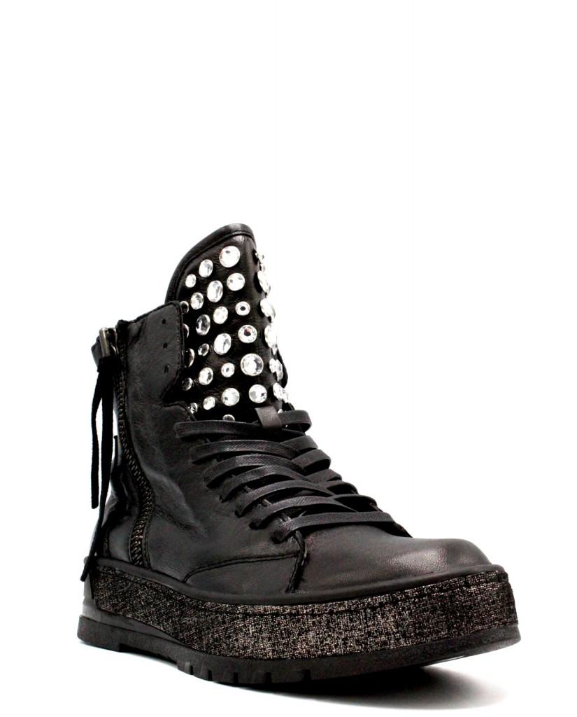 Crime london Sneakers F.gomma 36-40 Donna Nero Fashion
