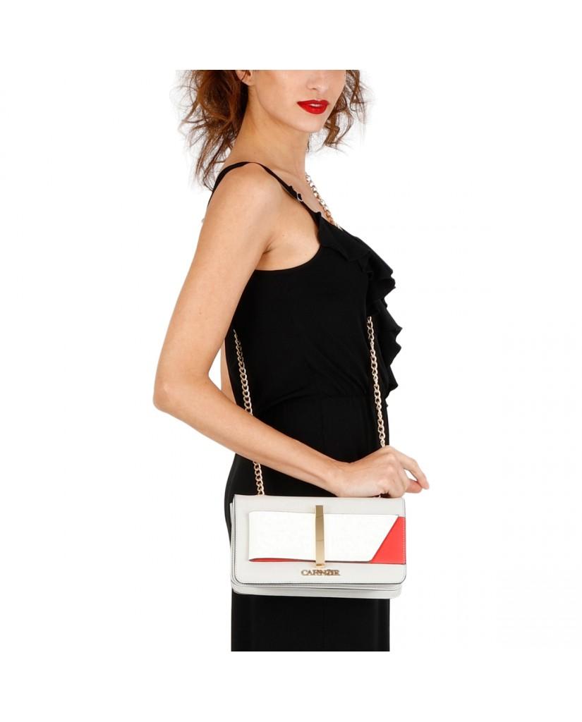 Cafe' noir Pochette   Pochette fiocco bicolore Donna Perla Fashion