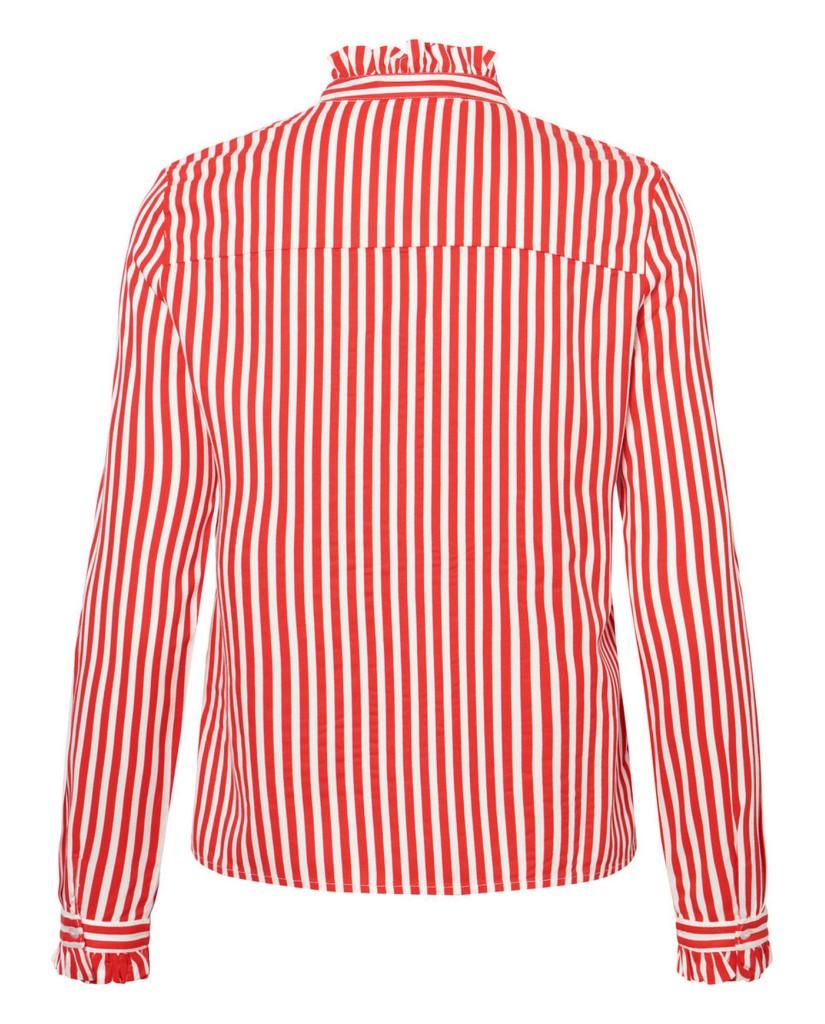 Vero moda Camicie Donna Bianco-rosso Casual