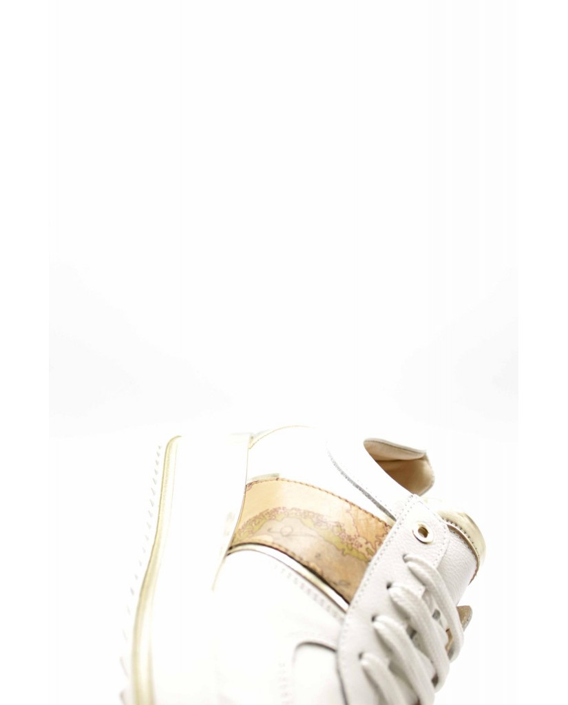 1^classe  Sneakers F.gomma N0282 Donna Bianco Fashion