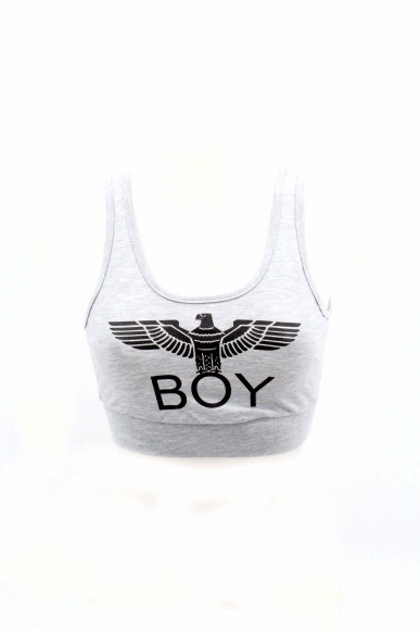 Boy london Top Donna Grigio Casual