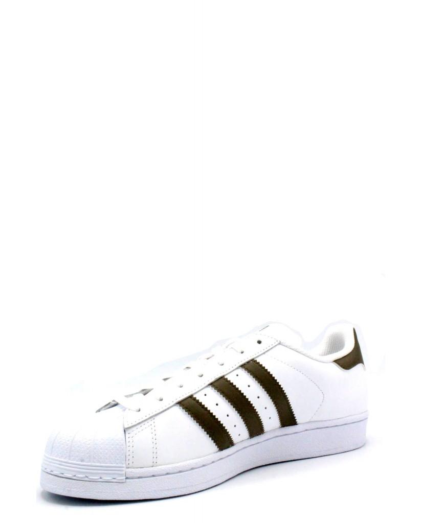 Adidas Sneakers F.gomma 39/46 superstar Uomo Bianco Sportivo