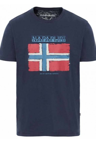 Napapijri T-shirt Sandrin Uomo Blu Casual