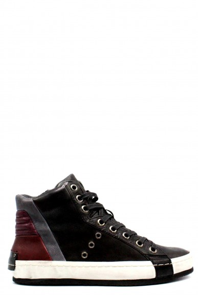 Crime Sneakers F.gomma 40-45 made in italy Uomo Nero Fashion