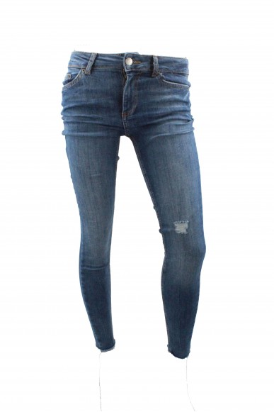 Pieces Jeans Donna Blu Casual