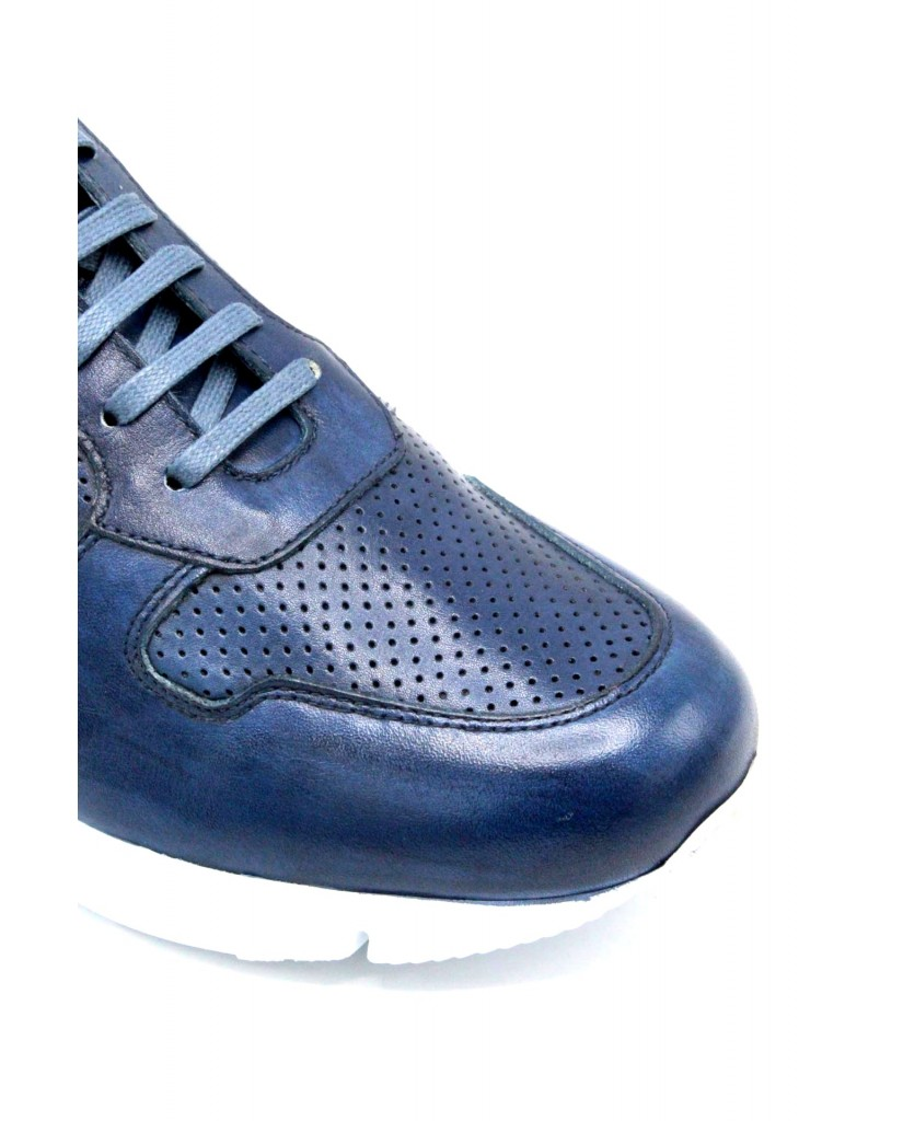 Exton Sneakers F.gomma 39/46 made in italy 332 Uomo Marine Fashion