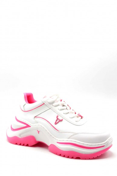 Windsor smith Sneakers F.gomma 36-41 chaos Donna Bianco/rosa Fashion
