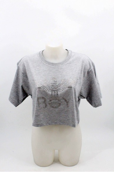 Boy london Maglie Donna Grigio Casual