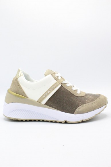 Versace jeans Sneakers F.gomma 36/41 Donna Bianco-taupe Fashion
