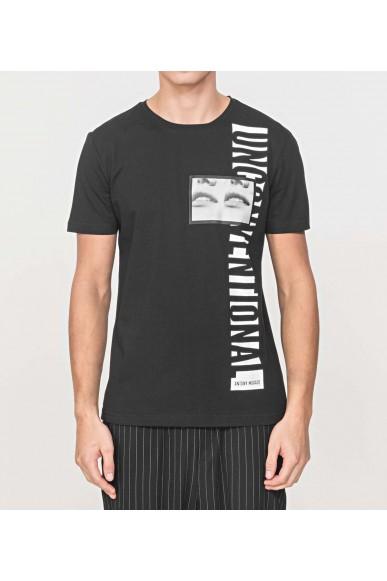 Antony morato T-shirt   T-shirt regular con stampa unc Uomo Nero Fashion